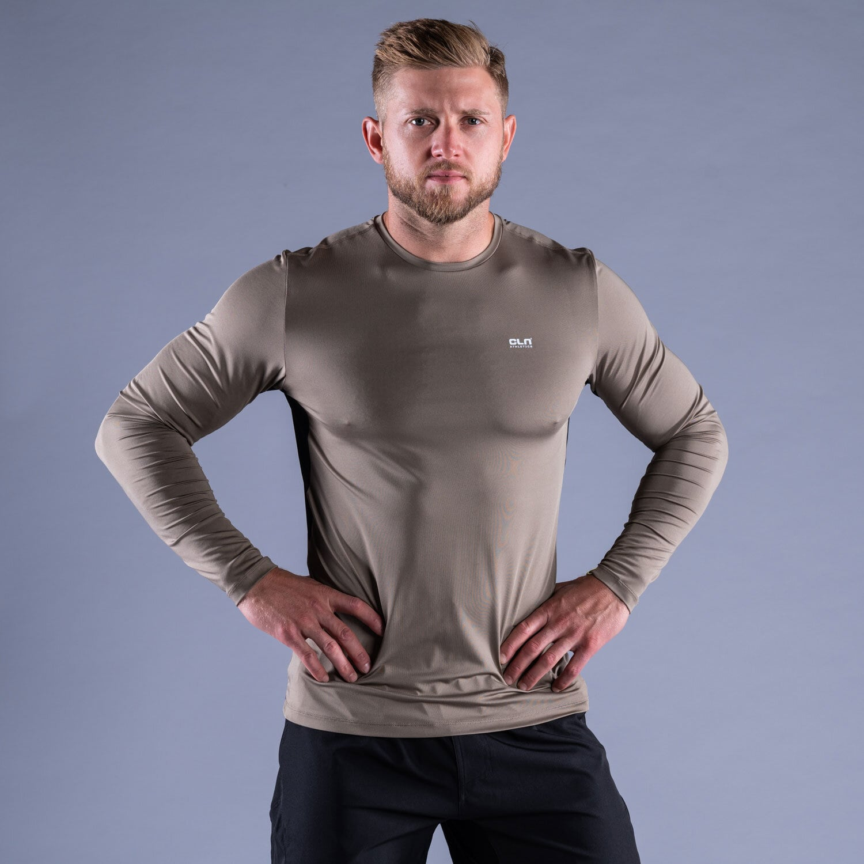 CLN Dawn longsleeve shirt Dark khaki