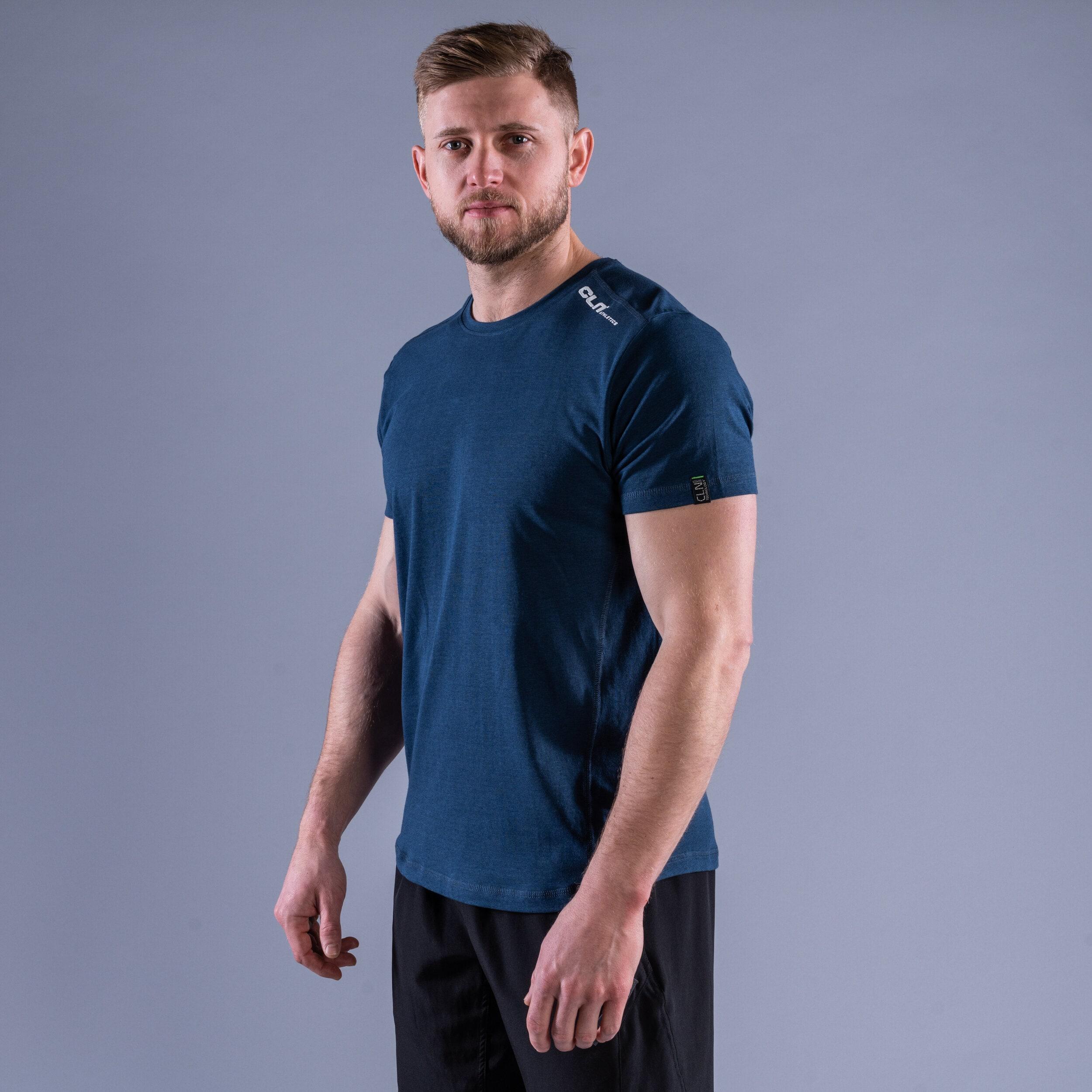 CLN Trap bamboo t-shirt Titan blue