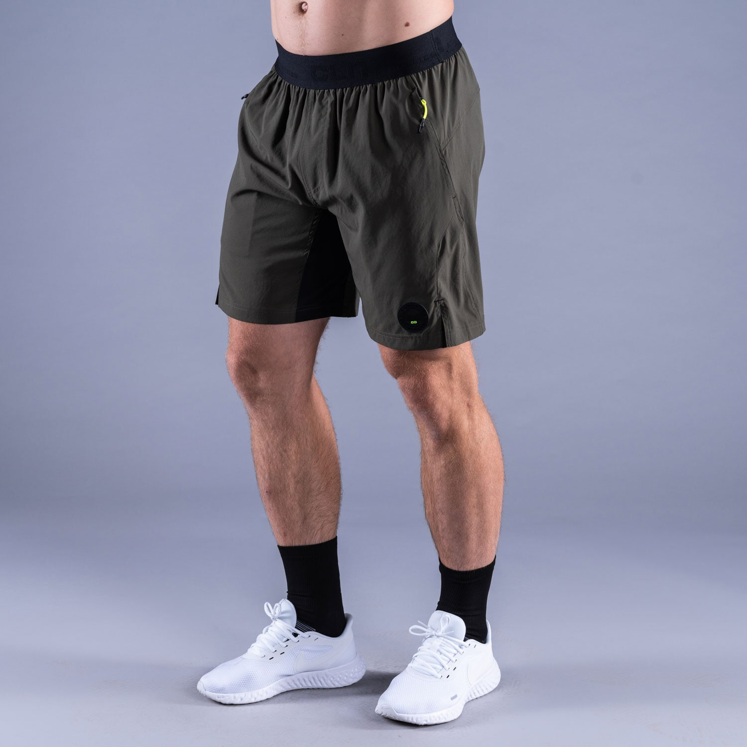 CLN Energy stretch shorts Forest green