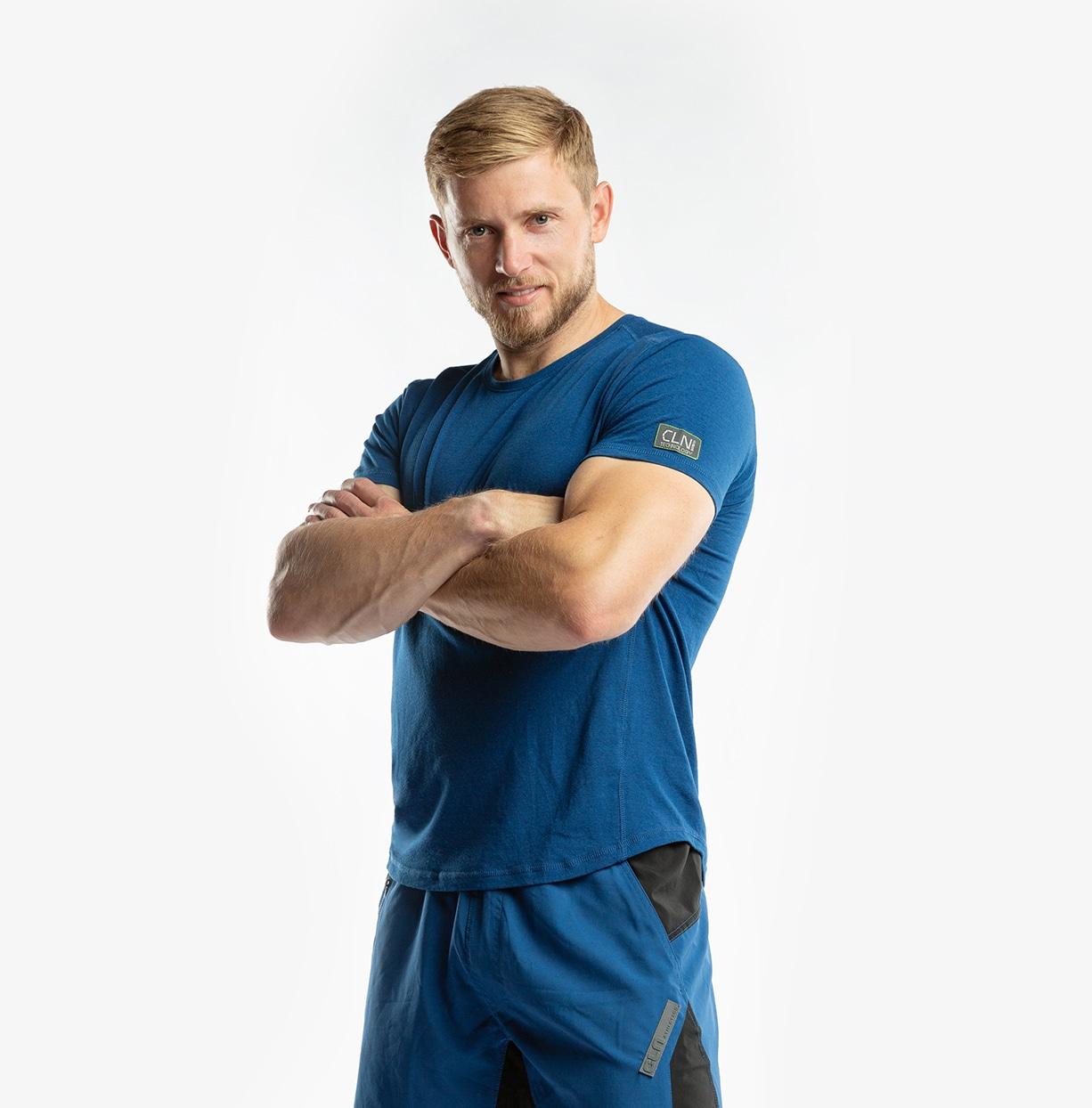 CLN Bamboo T-Shirt Peony blue
