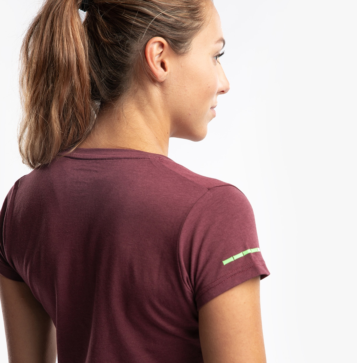 CLN Bamboo ws T-shirt Burgundy