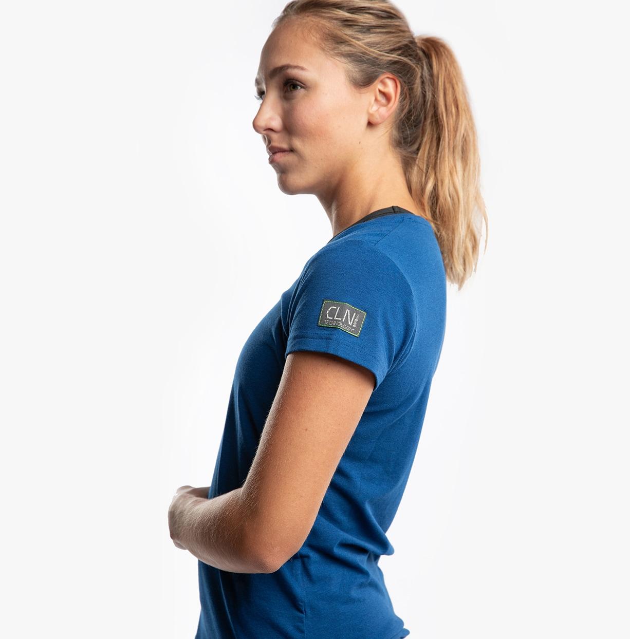 CLN Bamboo ws T-shirt Peony blue