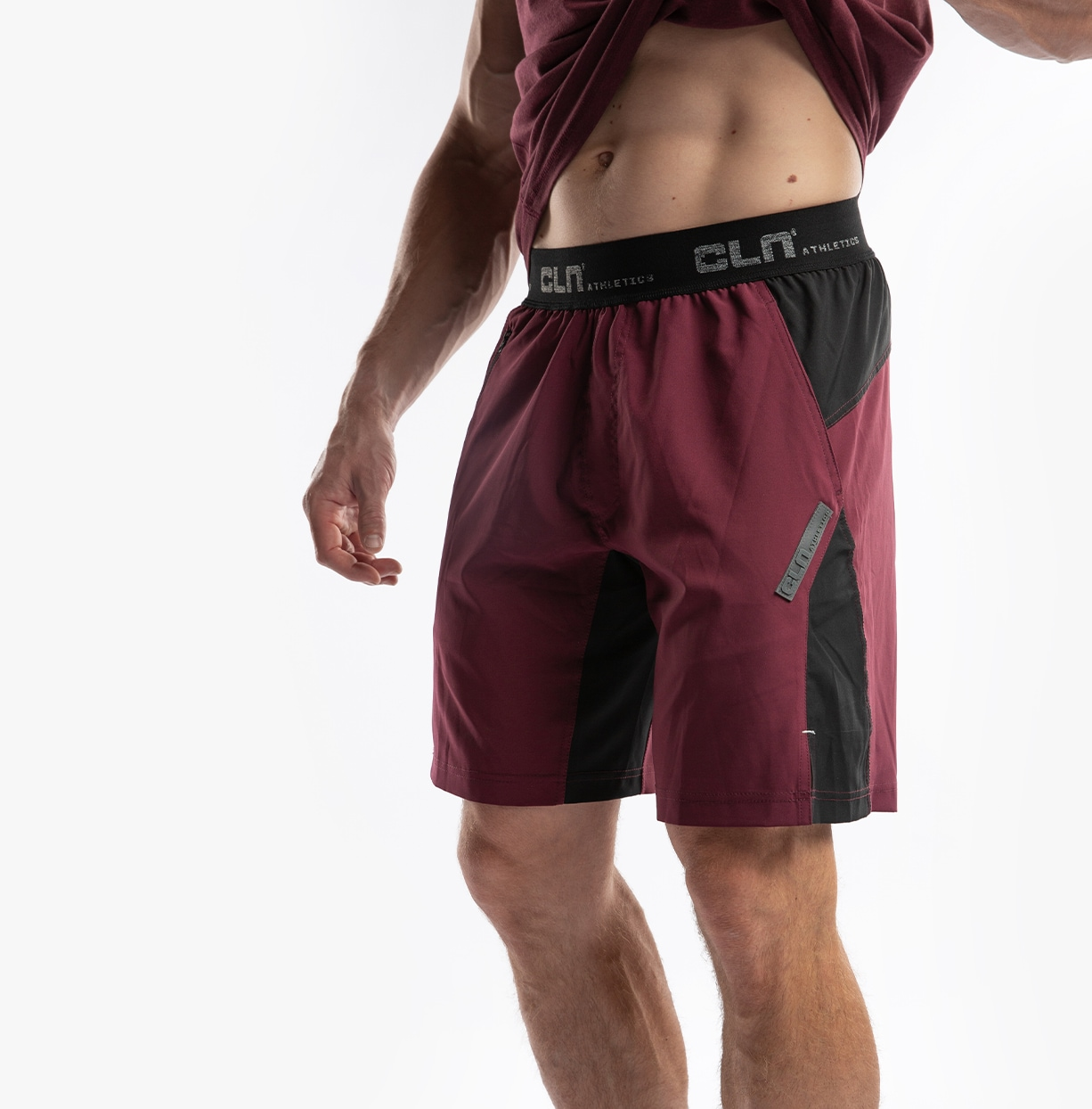 CLN Injection Shorts Burgundy